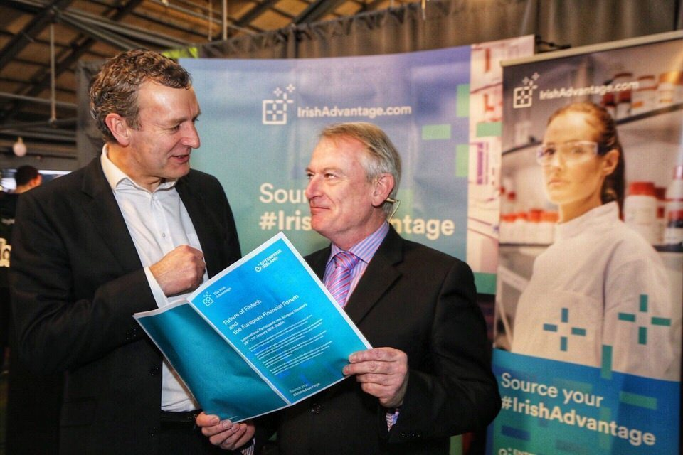 L-R Giles O'Neill, Head of Fintech at Enterprise Ireland and Chris Skinner, fintech and financial services expert
