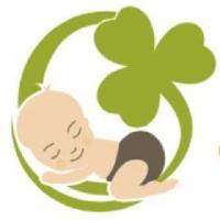Emerald green baby company logo