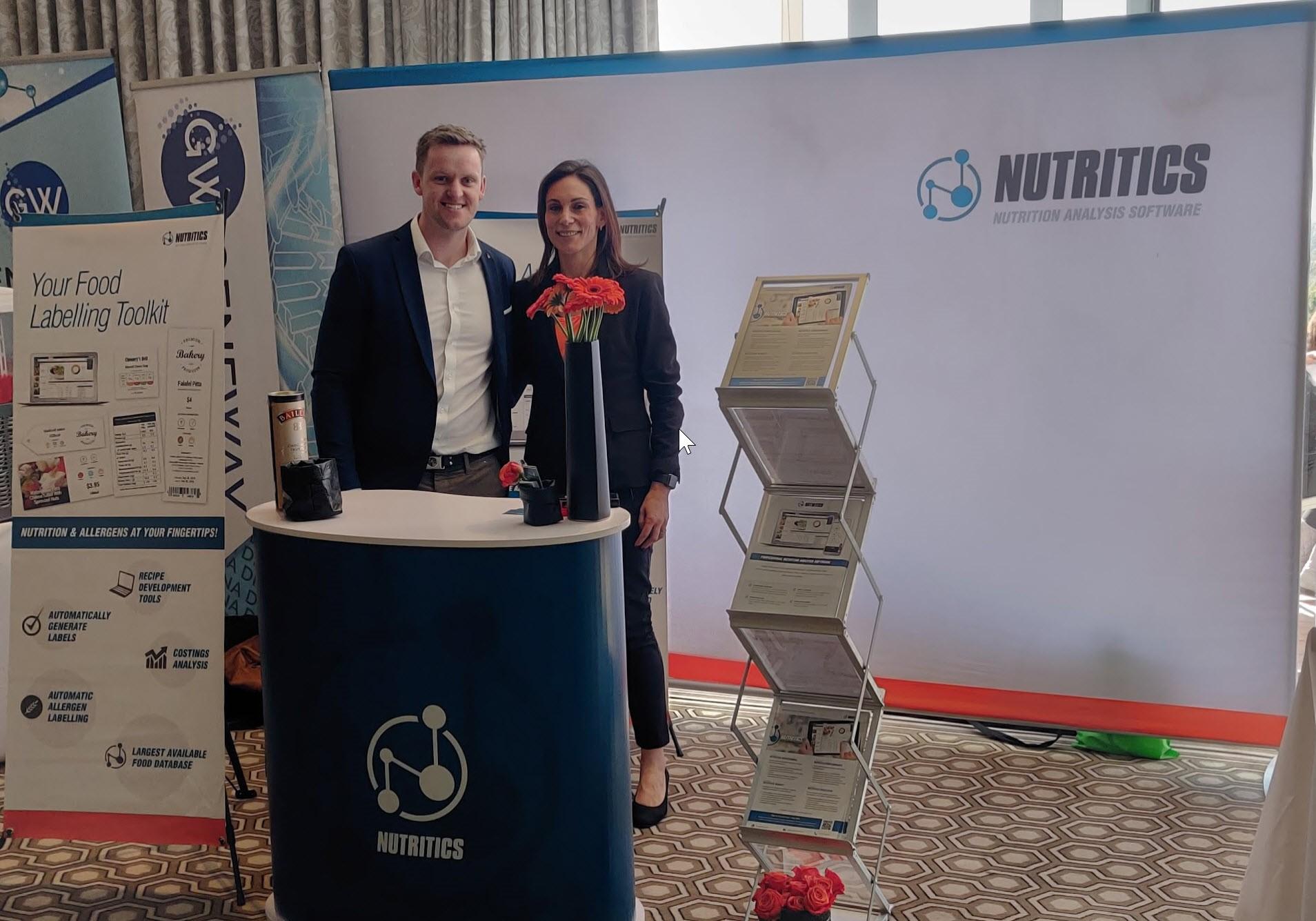 Damian O'Kelly (CEO Nutritics) and Leigh-Ann Silber (Dietitian and Nutritics local partner)
